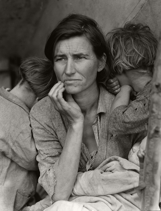 Destitute Pea Pickers by Dorothea Lange, 1936