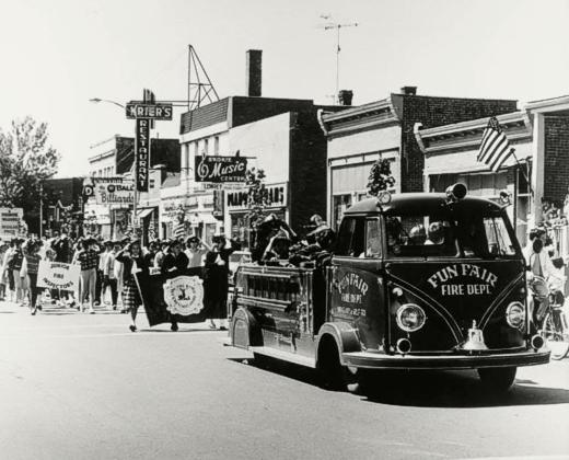 Fun Fair Fire Engine in Parade