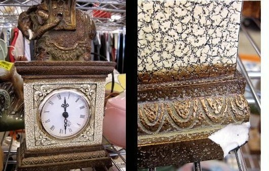 Chipped Elephant Clock