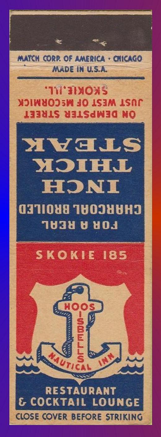 Isbells Nautical Inn Matchbook