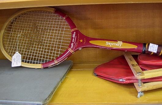 Old Wood Tennis Racket