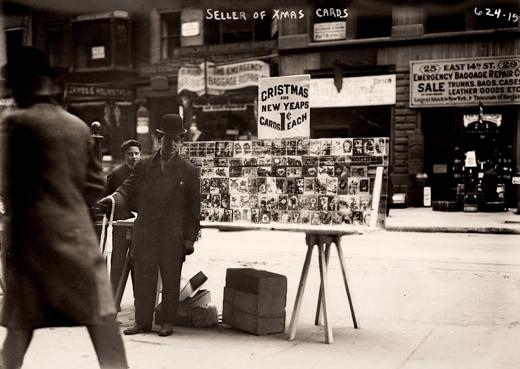 Christmas Card Vendor on 14th Street, 1915