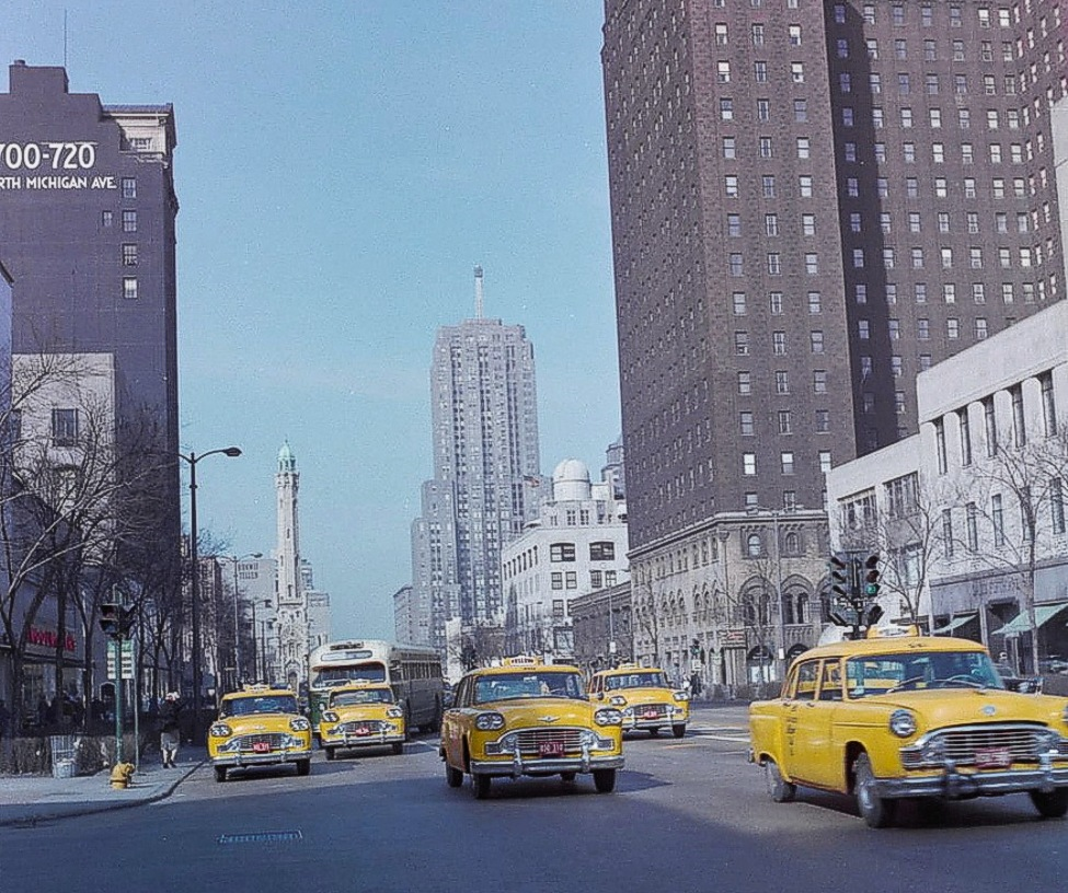 Looking-North-on-Michigan-from-Erie-1961