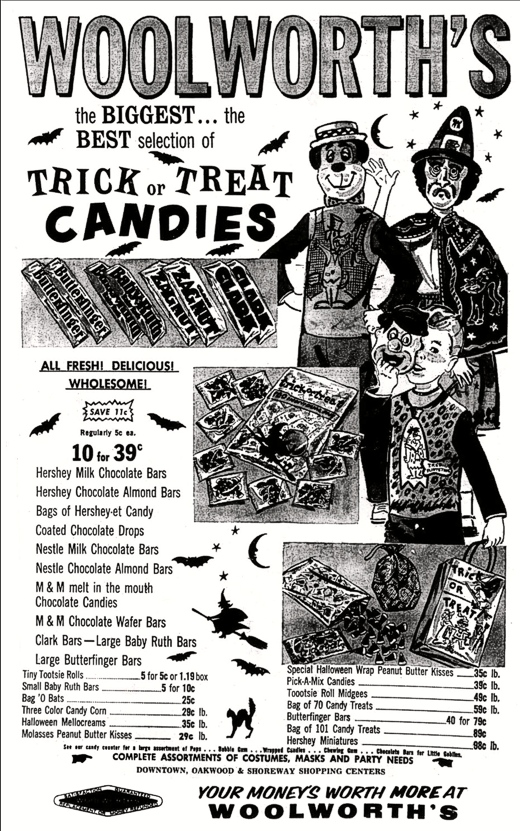 Woolworth's Ad October 26, 1961
