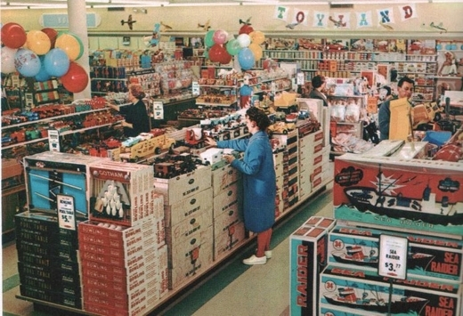 Shopping at Woolworth's