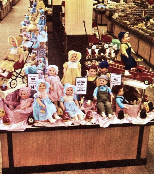 Woolworth's Doll Display