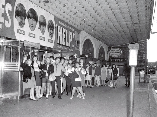 Help Opening at Woods Theater 1965