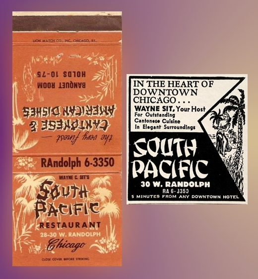 South Pacific Matchbook & Ad