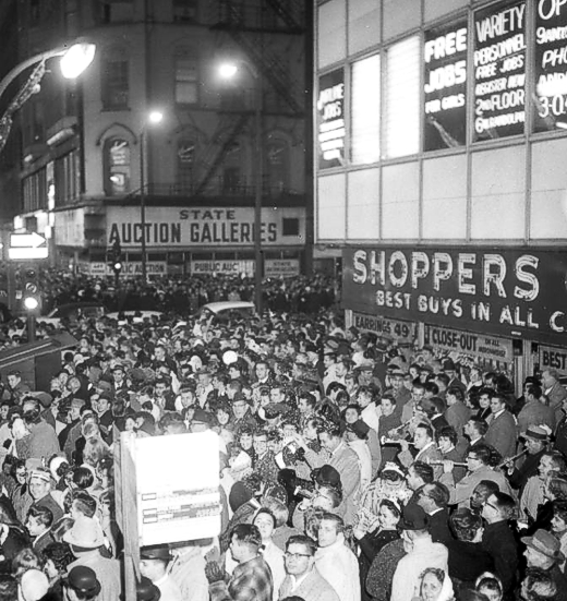 State and Randolph New Years Eve 1961